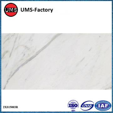 Faux carrara marble porcelain tile floor