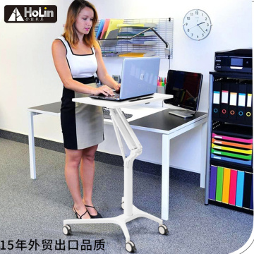 Height Adjustable Laptop Stand Rolling Laptop Desk