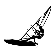 Interesting Car Stickers Windsurfing Water Extreme Sports Car Styling PVC 18CM*16CM Vinyl Motorcycl Accessories