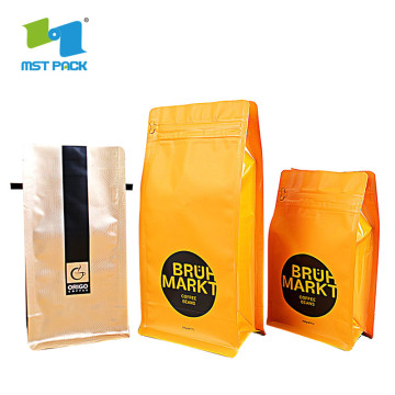 Laminated Material valve Side Gusset coffeebag tea packaging