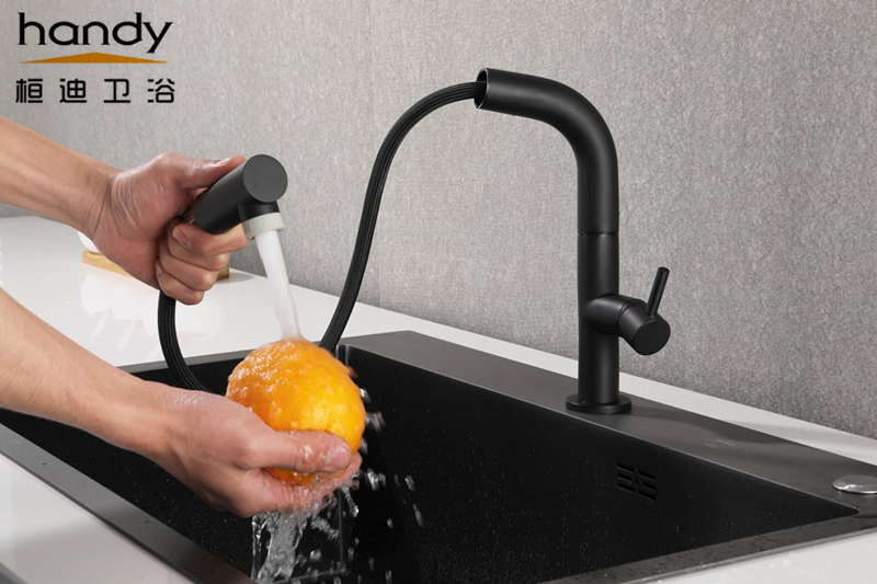 Black Pull out Kitchen Sink Mixer Faucets