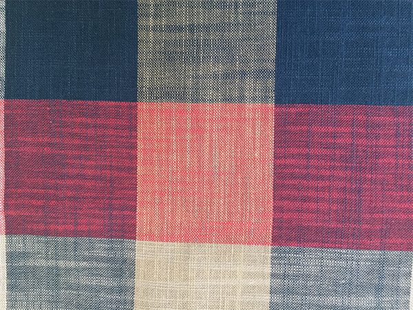 Plaid Color Bamboo Fabric
