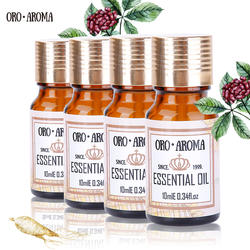 Famous brand oroaroma coconut tea tree lavender patchouli oil Essential Oils Pack For Aromatherapy, Massage,Spa, Bath 10ml*4