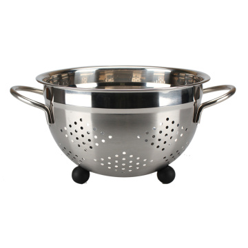 Stainless Steel Deep Colander Fruit Sieve With Feet