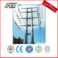 169KV Electric transmission Steel power poles