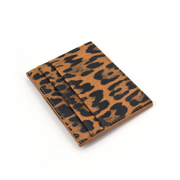 2020 New Leopard Leather Business Credit Card Holder