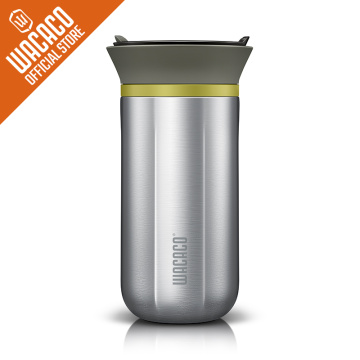 WACACO Cuppamoka Coffee Pot, Portable Drip Coffee Maker with 10 Cone Paper Filter, Stainless Steel Pour Over Coffee Brewer