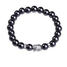 Natural Magnetic 8MM Gemstone Buddhism Prayer Beads Bracelet Buddha Jewelry