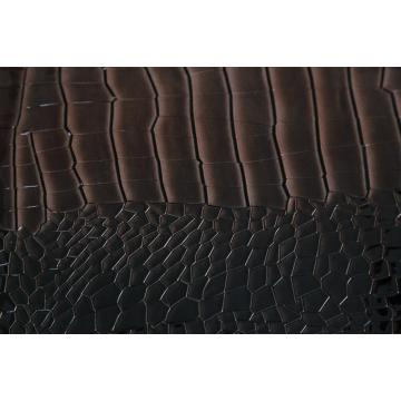 Crocodile Grain Embossed Pu Leather