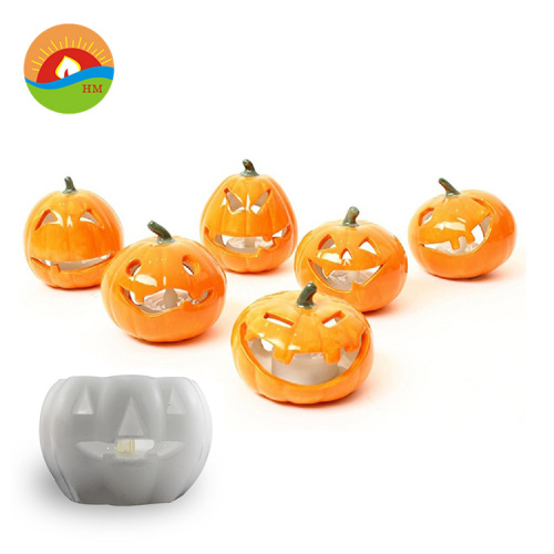 Pumpkin shape lantern with led candle