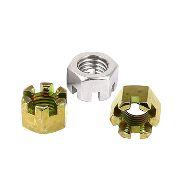 Steel Hex slotted nuts