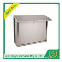 SMB-004SS High Quality German Letterletter Box And Glass Mailbox With Newspaper Holder
