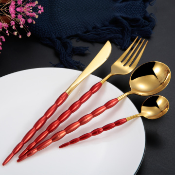 Color Handle For Gold Spoons Forks Knives
