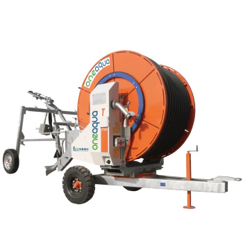 Removeable hose reel irrigation machine
