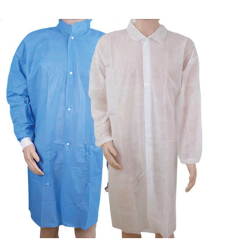 Disposable lab coat With Shirt Collar