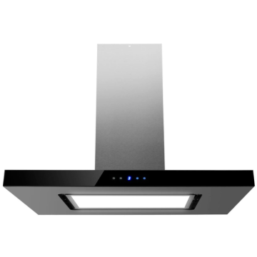 90cm Island Cooker Hood LED Panel With Glass