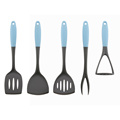 Rubber Soft Handle Nylon Kitchen Cooking Utensils