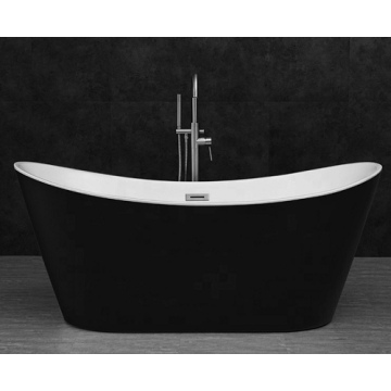 Freestanding Acrylic Bathtubs Black