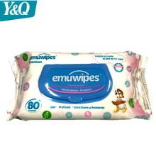 Private Label Antibacterial Flushable Organic Baby wet wipes