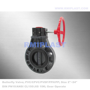 Wafer Type Butterfly Valve CPVC JIS 10K