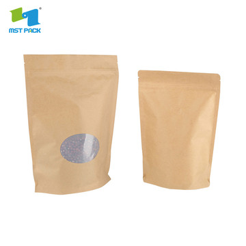 stand up plastic protein powder zipper pouches packaging
