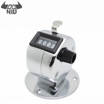 DANIU Mini 0-9999 Counter Metal Case Manual Four-Digit Counter With Plastic Base Hand Tally Counters Clicker Measuring Tool