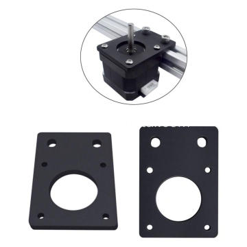High Quality Black Metal Stepper Motor Mount Flat Bracket