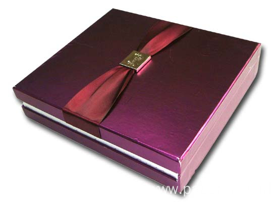 Gloss Cigar Paper Box With Ribbon Tie