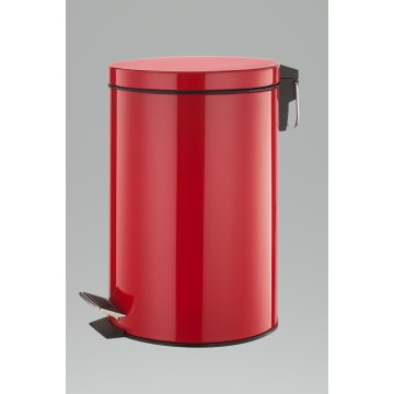 Red Color Stainless Steel Trashbin