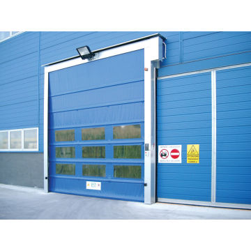 Fast action PVC stacking door for dock solution