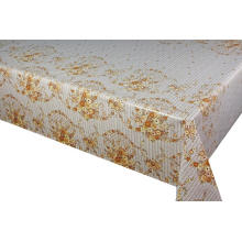Pvc Printed fitted table covers Burlap