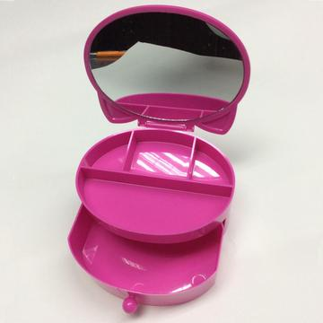 Plastic jewelry gift box with mirror
