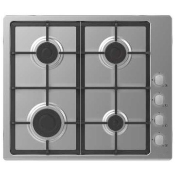 Candy Gas Stove 4 Rings Inox