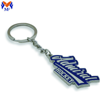 Metal Custom Logo Die Cut keychains