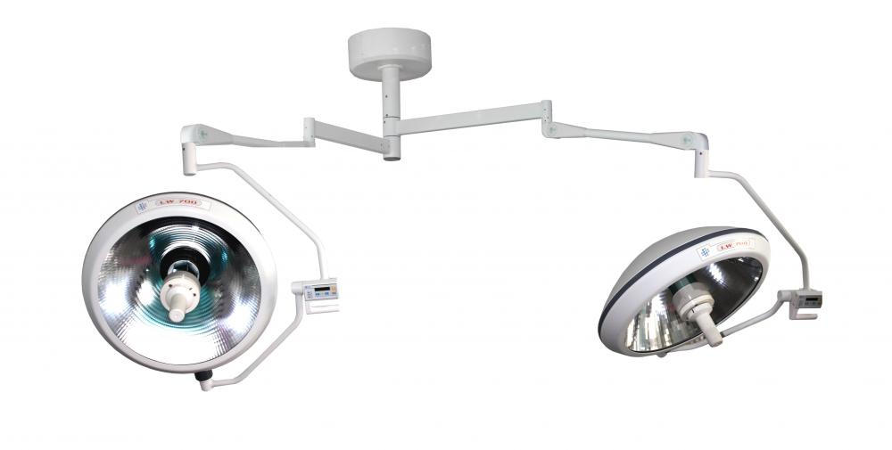 Halogen lamp with double lamp head