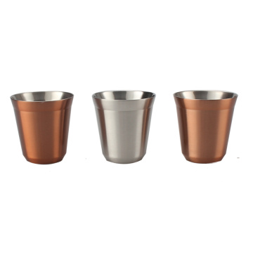 Stainless steel Double Wall Espresso Cup