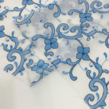2020 Summer Two Tone Yarn Chiffon Embroidery Fabric