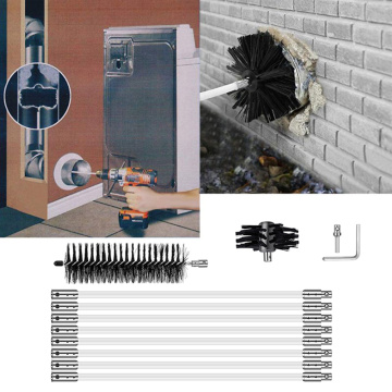 Chimney Cleaner Cleaning Brush + Rod Set Kit Rotary Sweep System Fireplace Tools