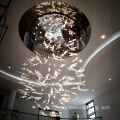 Luxury classic stainless steel glass pendant lamp