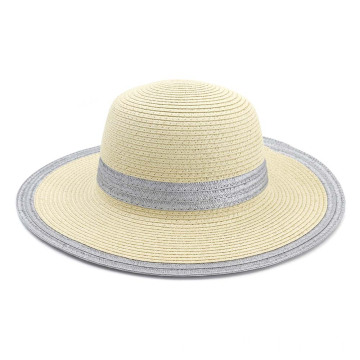 2 color of blank design summer straw hat