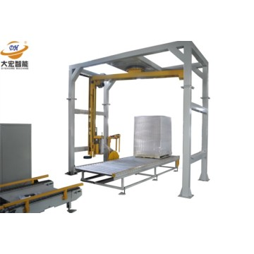Rotary arm PE stretch film wrapping machine