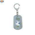 Custom design metal keychain with D-clasp