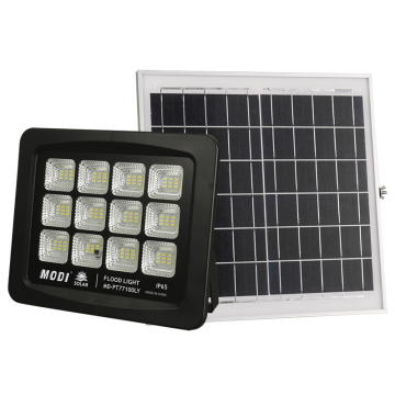 100W solar flood light with remote