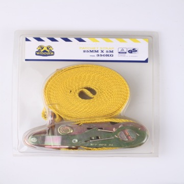 Unit Plastic Box Packing 25MM Size X 5M Long Truck Towing Belt Ratchet Type