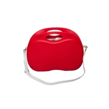 Small lightweight red apple crossbody shouler handbags