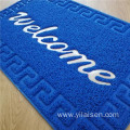 Coil loop embossed printed door mat