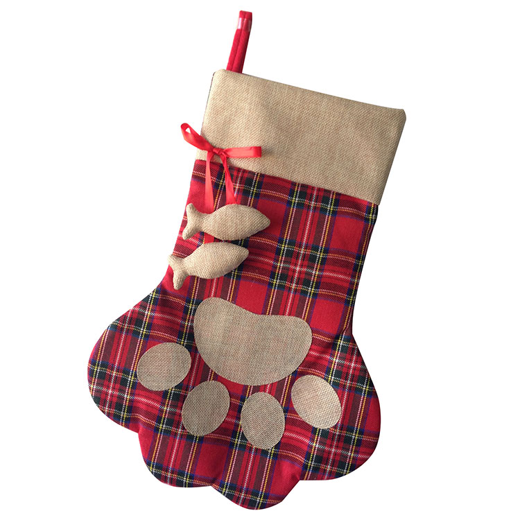 Christmas Pet Paw Stocking