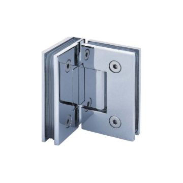 Solid Brass 90 Degree Glass-to-Glass Hinge
