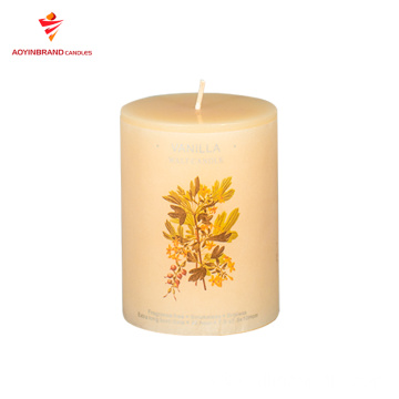 Multi Color Aroma 3 inch votive pillar candle