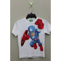 Boy's 100% Cotton T-Shirt with Print for Marvel Story
